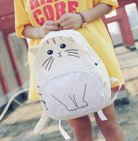 Wholesale Funny cartoon cat personality new handbag backpack backpack bag a Korean version of the students on behalf of