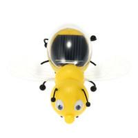 Venta al por mayor-Solar juguetes de abeja linda Energía Solar Powered Robot juguetes para niños Desarrollo de inteligencia de Inteligencia juguetes educativos regalo