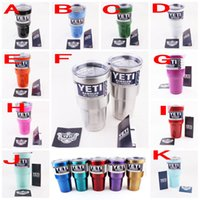 Wholesale 20 oz Pink yeti cooler cup rambler tumbler stainless steel cups insulated beer mug double wall YETI coolers mugs DHL