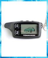 Venta al por mayor-Fábrica vende al por mayor el envío libre TOMAHAWK TW-9030 LCD teledirigido / Keychain para el sistema de alarma del coche de 2 maneras TOMAHAWK TW9030