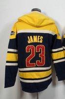 Wholesale Men s James Basketball Hoodie Hoodie Jacket with zipper Hoodies Sweatshirts