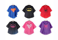 baby rain coats - Kids Superhero Raincoat cloak Superman Batman Rain Coat Baby Spiderman The Avenger Raincoat Waterproof RainCoat Super Hero Poncho Inch