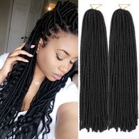 Compra Rastas tejen-Curly teje el pelo sintético de las trenzas de los Dreadlocks para el cabello sintético 30pcs / set de la trenza de las trenzas del ganchillo de la torcedura del Mambo de la haba