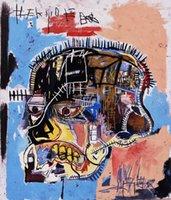 basquiat prints - Jean Michel Basquiat Head Giclee Canvas Print Paintings On High Quality Canvas Multi size berkin