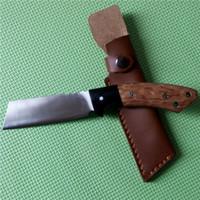 Precio de Trefilado de acero-Limited ACERO FRÍO Palo de rosa y ébano cuchillo fijo 9Cr18Mov cuchilla de acero al aire libre Dibujo de alambre Cuchillo táctico de accionamiento manual
