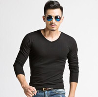 Wholesale New arrival mens long sleeves T Shirts hotttest male boys spring summer shirt hoodies