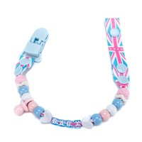 baby tooth holder - New Plastic Customized Pacifier Clips DIY Dummy Baby Nipple Teeth Clip Funny Pacifiers Chain Holder Gift Package PC