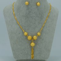 arab jewellery - Bead Jewelry sets Necklace Earrings Stud K Gold Plated Charm Ball sets Africa Arab Nigeria Jewellery Gifts