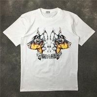 2017 Летняя мода бренда Мужские футболки Мужчины с коротким рукавом Повседневная tshirt Tee топы Мужская двуглавая собака Tshirt Мужская одежда