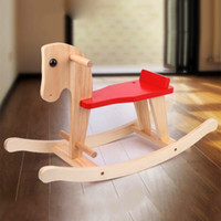 baby horses for sale - Hot Sales Kids Rocking Horse Solid Wood Children Ride On Toy Seat Chair Safe Baby Rocking Horse Toys Chair for Kids VT0427