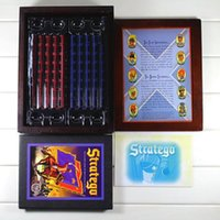 chess - Stratego Board Game Wooden Box Famous Vintage Game Collection Classic Game Battlefield Strategy Western Military Chess Boutique Box D389
