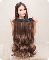 average fashion model - Fashion female wig long hair curly black wig piece of big wave type hair piece wig lady seamless light brownish color hair model