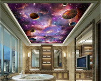 Wholesale Space Galaxy D Ceiling Ceiling Mural Large Mural Wallpaper Living Room Bedroom Wallpaper Painting TV Backdrop D Wallpapers