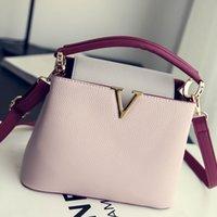Wholesale 2016 new handbag fashion handbag color embossed all match commuter Single Shoulder Bag Messenger Bag
