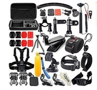 belt for camera - Gopro Accessories Set Helmet Harness Chest Belt Head Mount Strap Monopod For Go pro Hero xiaomi yi action camera GS0