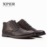 ankle boots with fur - XPER Brand Autumn Winter Men Shoes Boots Casual Fashion High Cut Lace up With Fur Warm Hombre YM86912BR