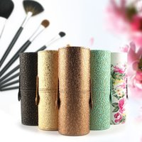 artist tool box - PU Leather Travel Cosmetic Brush Pen Holder Storage Box Empty Holder Makeup Artist Bag Brushes Organizer Make Up Tools
