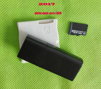 Wholesale 2017 Dual Core Dual Core White Game Cards Adapter gb micro SD memory card USB card reader Fast DHL Shipping