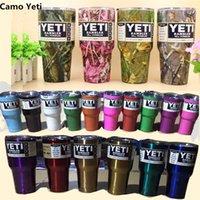 Wholesale Yeti Rambler oz Cups Stainless Steel Tumbler Mug Gold Pink Purple Lime Green Silver Color Yeti Mug