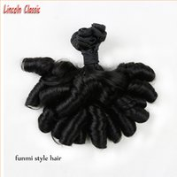 Wholesale Perfect Bundle Unprocessed a Indian Virgin Aunty Funmi Hair Human Hair Weave Aunty Funmi Bouncy Curls Extensions Hair B color