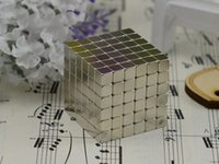 Wholesale DHL mm Silver Bucky Cubes Square Buckyballs Neodymium Magnetic Cubes Building Blocks Puzzles Novelty Educational Toys