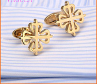 Wholesale Top Quality New Rose Plum Cufflinks Gold silvery Cuff links French blossom brass metal men sleeve nail Patek