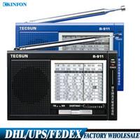 Wholesale Free DHL Fedex FM MW SW World band Radio High Sensitivity Band Receiver Radio Support Earphone R