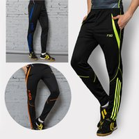 athletic training pants - 2016 Zipper pocket Soccer Training Long Pants Professional Men Football game And Running Athletic Sportswear Jogging Trousers