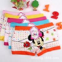 Wholesale 5pcs Minnie Mouse Anna Elsa cartoon children Frozen boxer underwear girl cotton pants for kids boys underpants