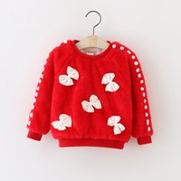 baby girl white sweater - Baby Girls Pullover Winter Brand New Fashion Girls Sweaters Casual Cotton Long Sleeve Cute Bow Girl Pullover Sweater FQF