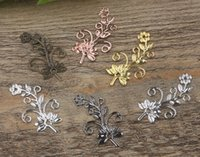 Charms antique gun parts - 07460 mm antique bronze silver rose gold gun black Chrysanthemum flower charms for jewelry parts diy making necklace pendant for bracelet
