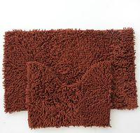 Wholesale Set Chenille Bathroom Toilet Mat Anti slip Bath Mat