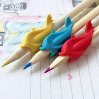 Wholesale High Quality Silicon Gift Dolphin Fish Style Children Pencil Students Hold a Pen writing Posture Correction CT0092