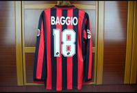 ac ls - 96 AC Milan home long sleeves LS retro jerseys sports jersesy Roberto Baggio Vintage jerseys