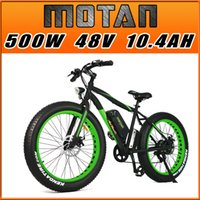 beach motor bike - Addmotor MOTAN M Fat Tire Electric Bicycles For Beach Snow Bike V W Bafang Motor AH Lithium ION Cell Battery Mountain E Bike