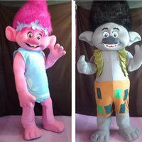 Wholesale ohlees actual picture New Trolls Mascot Costume poppy branch Parade Quality Clowns Halloween party activity Fancy Outfit