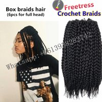 Wholesale Freetress synthetic hair box braids Havana Mambo Twist crochet braids Synthetic Kanekalon braiding hair extension jumbo box braids