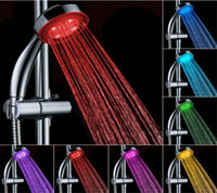 Wholesale LED Shower Head Sprayer Color Changing Bathroom Shower Water Saving Bath Shower Bathroom Products DHL Free