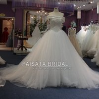 Wholesale Real Photo Custom Made Robe De Mariage Luxury Full Pearls Wedding Dresses Ball Gown Vestidos De Noiva Saudi Arabia Princess Bridal Gown