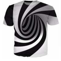 Wholesale Newest Fashion Womens mens Hypnosis Funny D Print Casual T Shirts