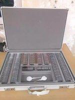 Wholesale ophthalmic trial lens set optical trial lens case colorful metal rim aluminum case