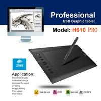 Wholesale Huion H610 Pro H610PRO Levels LPI Express keys Graphics Tablet Drawing Pen Tablet with Rechargeable Pen