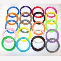Wholesale 20Pieces D Printer ABS Filament M Colors mm PLA D Print Filament For D Printer Pen