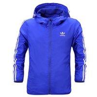 Wholesale New Men s windbreaker autumn long sleeve four pure colors sports wear leisure jacket Hooded sports coat fastory