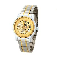 vent manuel achat en gros de-WINNER Gorgeous Automatic Mechanical Watch Gold Dragon Pattern Manuel Wind-up Popular Business Wristwatch J0294