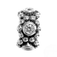Silver Music Red Authentic 925 Sterling Silver Bead Charm Vintage Crystal Circle Game Spacer Beads Fit Women Pandora Bracelet Bangle DIY Jewelry HK3338