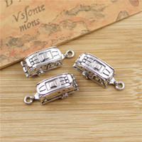 Wholesale Camper Trailer Charms Pendants Bracelet Necklace Accessories Jewelry Making Handmade Tibetan Silver Plated mm