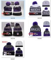 Wholesale Winter Wool Hats Ravens Beanies for adult