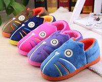 Los nuevos niños de la llegada calientan los zapatos suaves del diseñador de los zapatos del diseño de los niños de los zapatos suaves del hogar del otoño Los pantalones gruesos de los cabritos 5 colores venden al por mayor Q0843