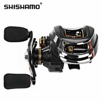 Wholesale Shishamo LB200 Fishing Reels Left Hand Right Hand Fishing Bait Casting Reel with One Way Clutch for Outdoor Fishing B
